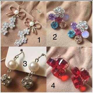 3 items - Korean Earrings and Citigems Pendant