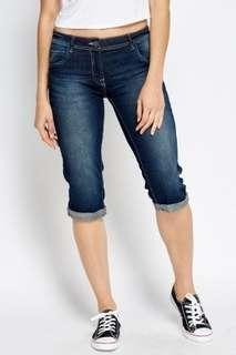 3/4 denim jeans