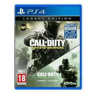 CALL DUTY + STREET FIGHTER PS4 CD NEW SEALED