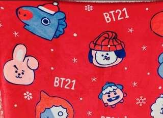 BT21 blanket Christmas edition