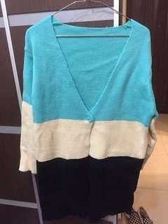 韓風長身針織外套