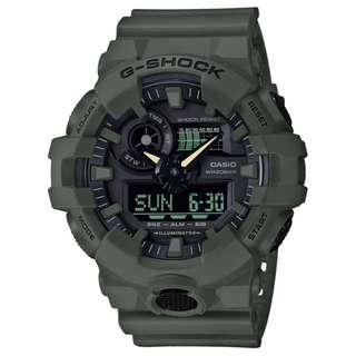 CASIO G-SHOCK GA-700 series 綠色 GA-700UC-3A 軍錄 GSHOCK GA700UC