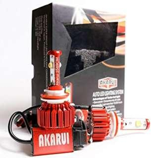 Akarui LED Headlight Bulbs Conversion Kit - Single Beam - CREE XHP70 LED - 9.600 lumens - 6K Cool White - 2-Year Warranty - Pair - H7