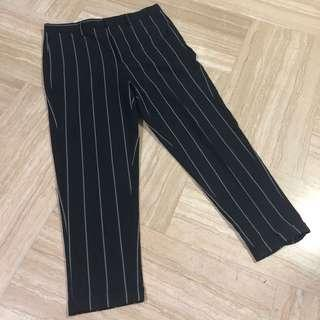 ASOS Pinstripe Cropped Trousers