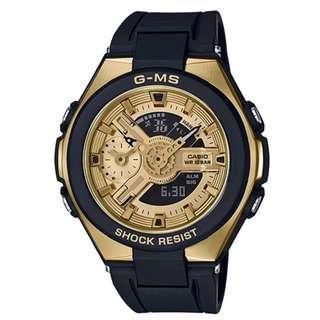 CASIO Baby-G G-MS series MSG-400G MSG-400G-1A2 金x黑 BabyG MSG400G1A2