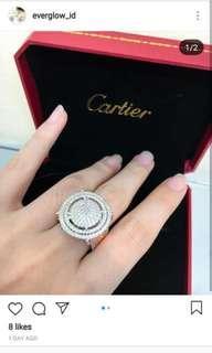 Cartier Diamond Big Round Circlet Ring GP18k