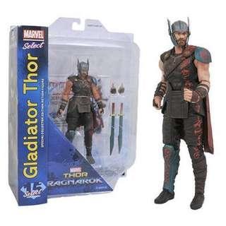 MOSC Marvel Select Thor Ragnorak Gladiator Thor (Legends Hulk BAF Planet Avengers Infinity War Captain America Iron Man Black Widow Thanos Hela)