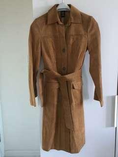 BCBG Leather Trench coat