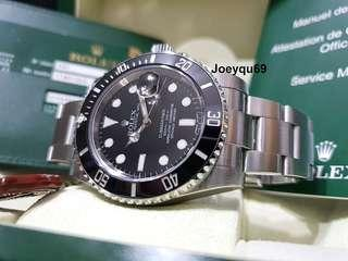 Latest ROLEX Submariner Date 116610LN (Ceramic Bezel) Warranty Card /Box !