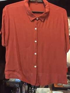 Cropped rusty orange top