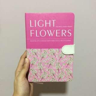 PINK LIGHT FLOWERS LINED HARDBOUND DIARY