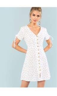 BNIP White Polka dot Dress