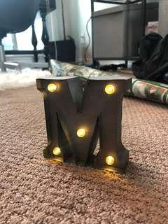 """""""M"""" Marquee Letter"""