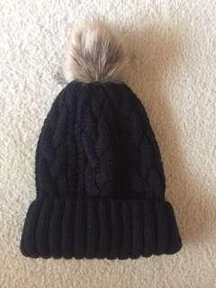 Urban outfitters black Pom Pom beanie
