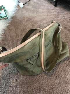 Army Green Slouch Purse