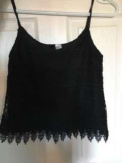 Black knit tank top