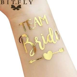 10pc Bride Team Bridesmaid team temporary tattoo Bachelorette Party Sticker Decoration Mariage Bride To Be Bridal Party Supplies
