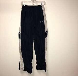 Nike Navy Blue & White Trackpants