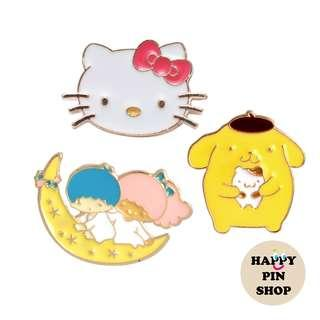[AVAIL @ Cine] Sanrio Hello Kitty, Purin, My Little Twin Stars enamel pins