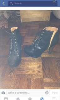 Laced Black Booties Worn Once Size 8 $25 in EUC