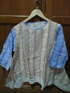 Batik modern warna pastel