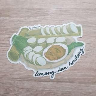 Lemang and rendang Postcard/Card by kookeys.crafts_NZJ