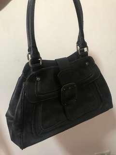 Liz Claiborne Black Leather Bag