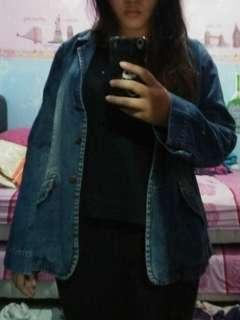 Jaket jeans vintage oversize