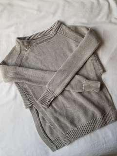 Lululemon grey knit wool warm sweater size 2