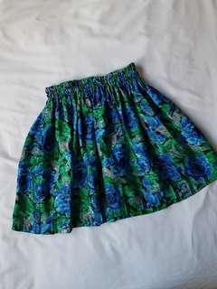 Silky High waisted summer skirt vintage