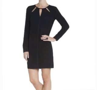 BCBG MazAxria Black Long Sleeve Cutout Dress Size Small