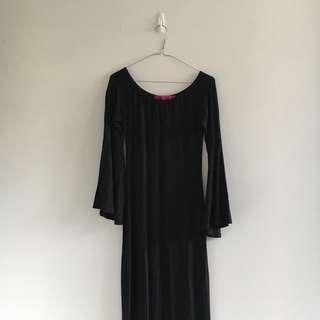 Black Morticia Addams Maxi Dress   Brand: Boohoo
