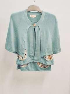 Jill Stuart 🇯🇵 日本出名牌子 Tiffany blue 綠色背心配易襯綠色外撘褸仔