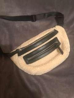 Shearling fanny pack