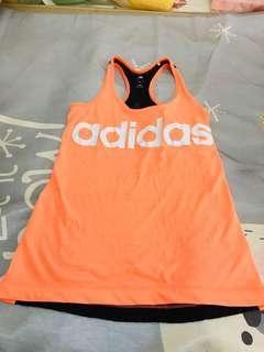 Adidas 挖背背心 M長版