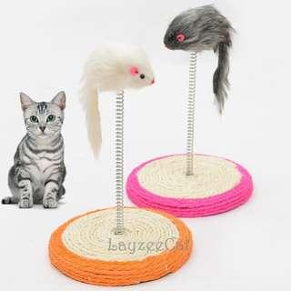 [Ready Stock] CT030 Sisal Sracther with Spring and Mouse