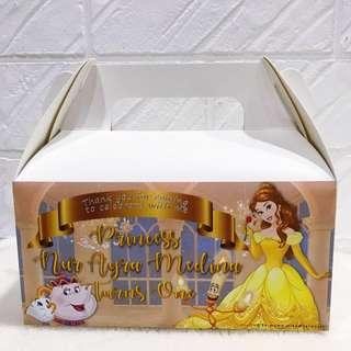 ✔️customize goodie bag / party bag / door gift / goodie box - beauty and the beast