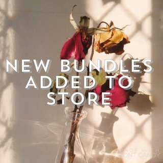 new bundles added + can create bundles