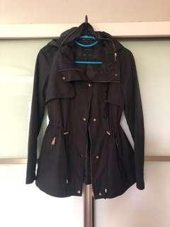 Authentic Zara Windbreaker (Black - Size UK8/S)