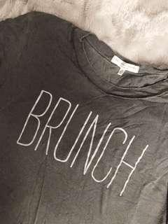 "Urban Outfitters Grey ""Brunch"" Shirt"