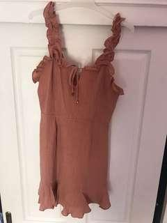 Tan mini dress