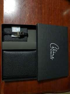 """Celine Dion"" Passport Cover, Card Holder with box"