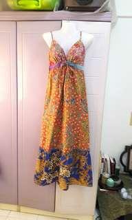 Indonesia sexy batik maxi dress