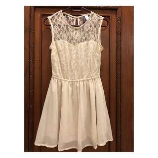 [H&M] Lacey Off White Dress