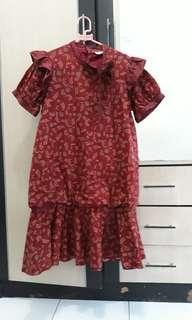 batik keris dress