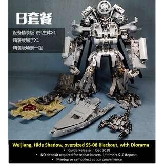 [Preorder] Weijiang, M05 Hide Shadow, KO oversized Studio Series SS-08 Blackout (with Diorama)