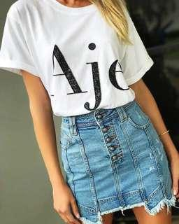 Aje signature sequinned t shirt SMALL