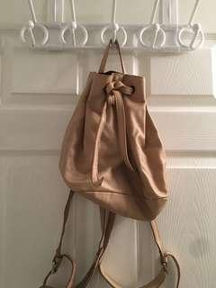 Topshop cream backpack