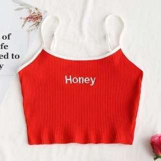 💕Red honey top