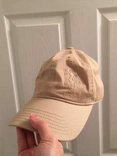 Cream polo baseball cap